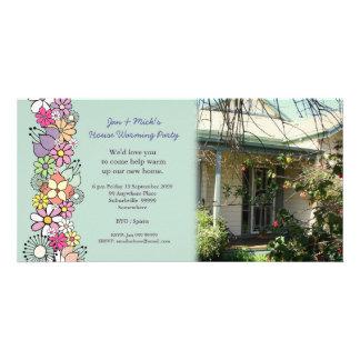 Tarjeta de la foto del fiesta de la nueva casa que tarjetas fotograficas personalizadas