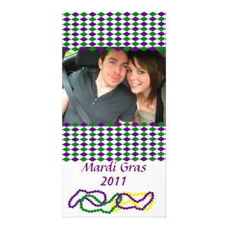 Tarjeta de la foto del fiesta del carnaval tarjeta personal con foto
