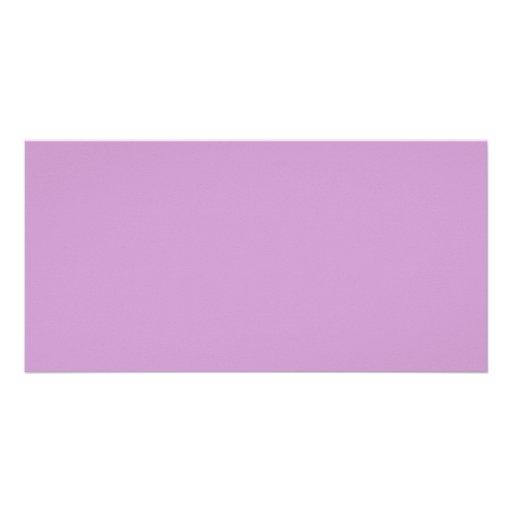 Tarjeta de la foto del fondo del color sólido de tarjetas personales