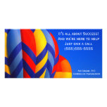 Tarjeta de la foto del globo del aire caliente tarjetas personales con fotos