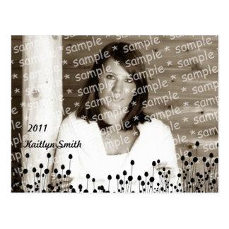 Tarjeta de la foto del graduado de los Wildflowers Postal