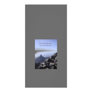 Tarjeta de la foto del grano de mostaza tarjetas fotograficas personalizadas
