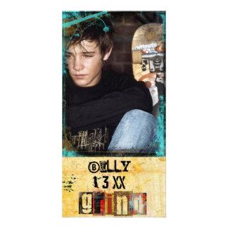 tarjeta de la foto del grunge tarjeta fotografica personalizada