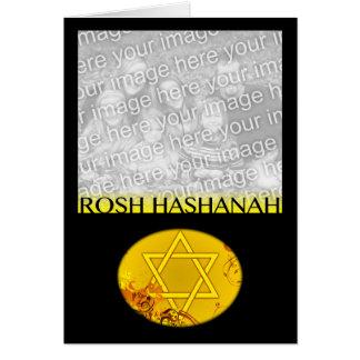 tarjeta de la foto del hashanah del rosh
