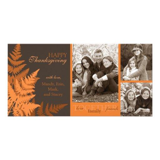 Tarjeta de la foto del helecho de octubre tarjeta fotografica