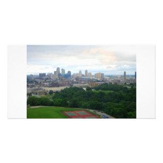 Tarjeta de la foto del horizonte de Kansas City Tarjeta Fotografica