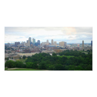 Tarjeta de la foto del horizonte de Kansas City Tarjeta Fotográfica Personalizada