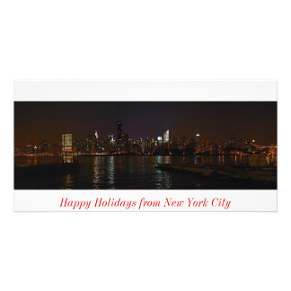 Tarjeta de la foto del horizonte de Nueva York bue Tarjeta Con Foto Personalizada