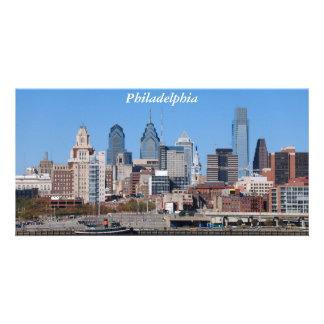 Tarjeta de la foto del horizonte de Philadelphia Tarjeta Con Foto Personalizada