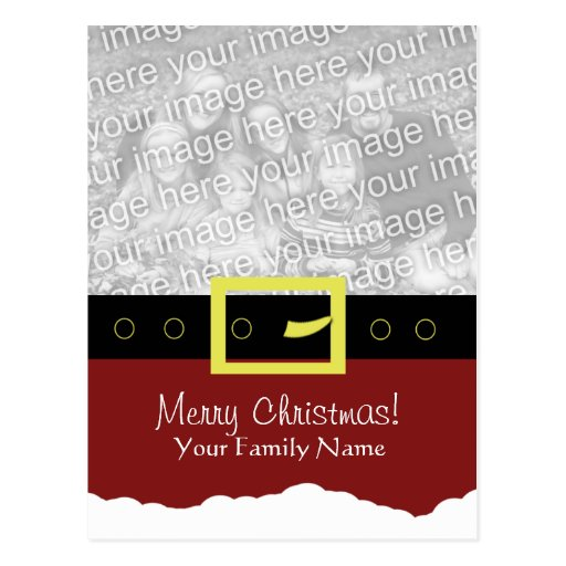 Tarjeta de la foto del juego de Santa… Postales