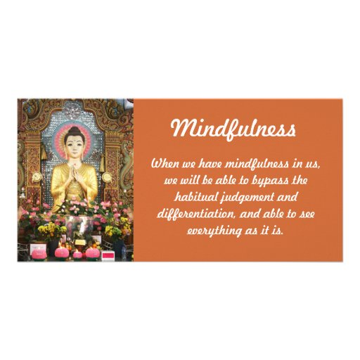 Tarjeta de la foto del Mindfulness Tarjetas Fotograficas Personalizadas