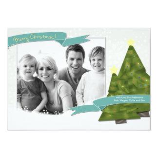 """Tarjeta de la foto del navidad - arte inspirado invitación 5"""" x 7"""""""