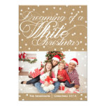 Tarjeta de la foto del navidad blanco de Kraft del Invitación 12,7 X 17,8 Cm