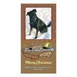 """Tarjeta de la foto """"del navidad caliente y acogedo tarjeta personal"""