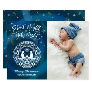 """Tarjeta de la foto del navidad de la natividad invitación 5"""" x 7"""""""