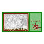 Tarjeta de la foto del navidad de las estrellas de tarjetas fotográficas personalizadas