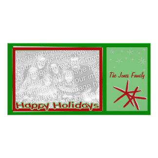 Tarjeta de la foto del navidad de las estrellas de tarjetas fotográficas