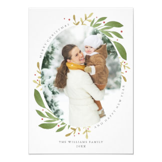 """Tarjeta de la foto del navidad de las puntillas invitación 5"""" x 7"""""""