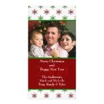 Tarjeta de la foto del navidad de los copos de nie tarjeta fotográfica personalizada