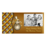 Tarjeta de la foto del navidad de los muñecos de n tarjeta personal