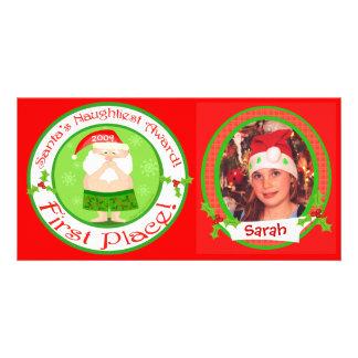Tarjeta de la foto del navidad de los niños divert tarjeta fotográfica personalizada