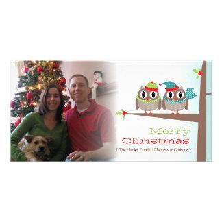 Tarjeta de la foto del navidad de los pares del bú tarjetas fotograficas personalizadas
