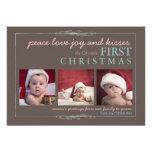 Tarjeta de la foto del navidad del bebé de la aleg invitacion personal
