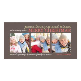 Tarjeta de la foto del navidad del bebé de la aleg tarjeta fotográfica personalizada
