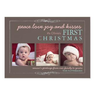"""Tarjeta de la foto del navidad del bebé de la invitación 5"""" x 7"""""""