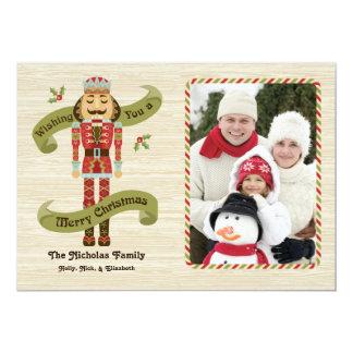 Tarjeta de la foto del navidad del cascanueces invitación 12,7 x 17,8 cm