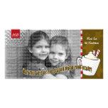 Tarjeta de la foto del navidad del chocolate calie tarjetas personales con fotos