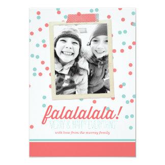 """Tarjeta de la foto del navidad del confeti de invitación 5"""" x 7"""""""