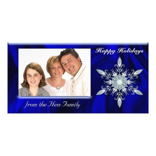 Tarjeta de la foto del navidad del copo de nieve d tarjeta fotografica