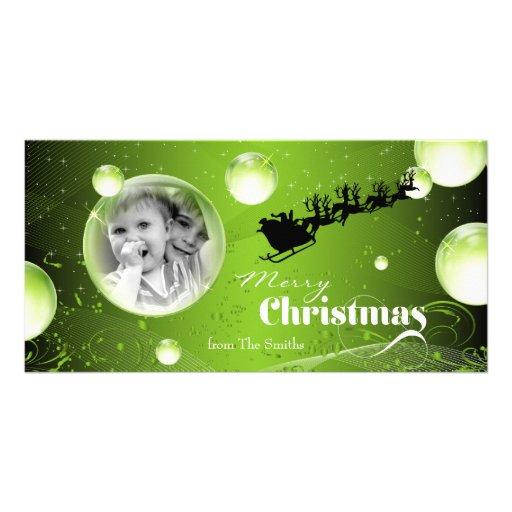 Tarjeta de la foto del navidad del día de fiesta tarjeta fotografica personalizada