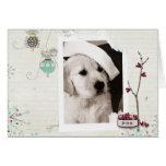 Tarjeta de la foto del navidad del mascota