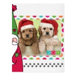 Tarjeta de la foto del navidad del mascota tarjetas postales