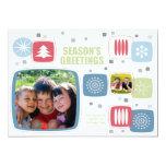 Tarjeta de la foto del navidad del palillo de invitación 12,7 x 17,8 cm