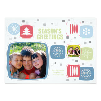"""Tarjeta de la foto del navidad del palillo de invitación 5"""" x 7"""""""