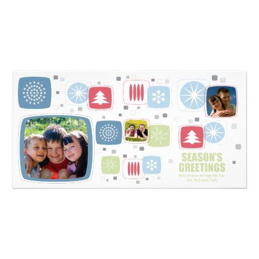 Tarjeta de la foto del navidad del palillo de Swiz Tarjetas Personales
