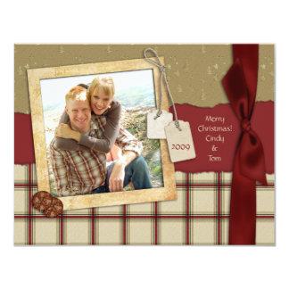 """Tarjeta de la foto del navidad del pedazo de la invitación 4.25"""" x 5.5"""""""