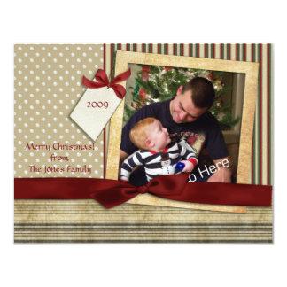 """Tarjeta de la foto del navidad del pedazo de los invitación 4.25"""" x 5.5"""""""