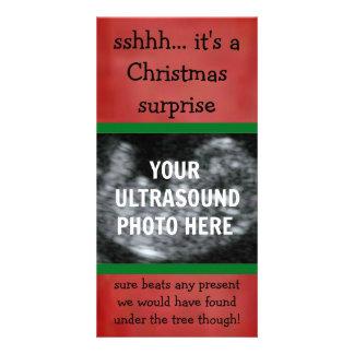 Tarjeta de la foto del navidad del ultrasonido del tarjeta personal