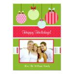 Tarjeta de la foto del navidad invitación personalizada