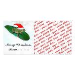 Tarjeta de la foto del navidad o etiqueta del rega tarjetas personales