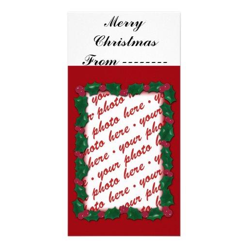 Tarjeta de la foto del navidad o etiqueta del rega tarjeta personal