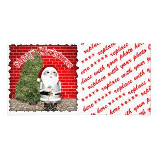 Tarjeta de la foto del navidad o etiqueta del rega plantilla para tarjeta de foto