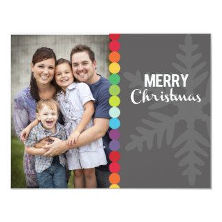 """Tarjeta de la foto del navidad - puntos modernos invitación 4.25"""" x 5.5"""""""