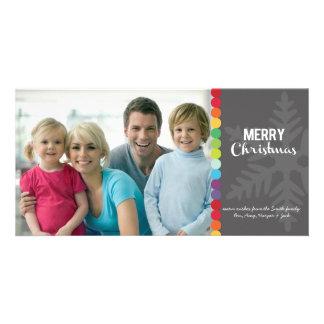 Tarjeta de la foto del navidad - puntos modernos tarjetas con fotos personalizadas