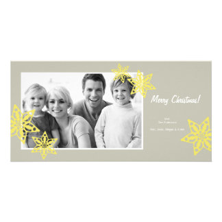 Tarjeta de la foto del navidad - tarjeta 4x8 de la tarjeta personal