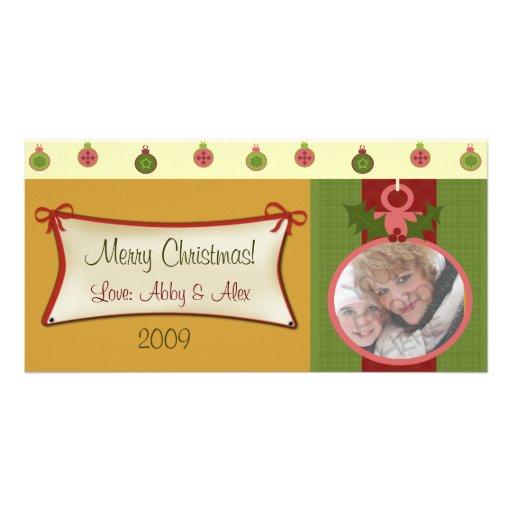 Tarjeta de la foto del navidad tarjeta personal con foto